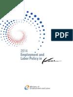 Empleo y políticas laborales en Corea 2014