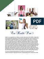 Health information Part 5
