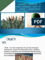 Usos de Saponia de Quinua