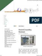 Neutral Grounding Resistant - IlmuListrik.com