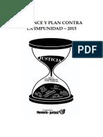 2015 - Balance y Plan Contra La Impunidad