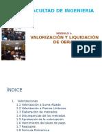 Módulo i Valorización-liquidación