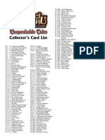 Call of Chthulhu CCG 1E - Checklist 2 Unspeakable Tales