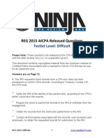 AICPA Released Questions REG 2015 Difficult