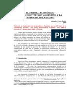 El Modelo Economico de La Constitucion Argentina y La Reforma Del Estado