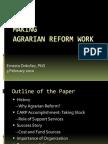 07 Making Agrarian Reform Work - Dr. Ernesto M. Ordonez