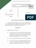 Order of Detention - Omar Faraj Saeed Al Hardan