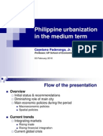 08 Philippine Urbanization in the Medium Term - Prof. Cayetano W. Paderanga, Jr