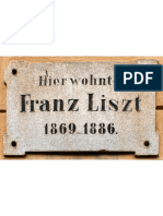 Inschrift Auf Dem Haus in Weimar, In Dem Franz Liszt Von 1869 Bis 1886 Lebte