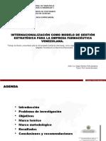 Internacionalización Como Modelo de Gestión Estratégica Para La Empresa Farmacéutica Venezolana