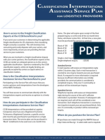 CCSB Classification Interpretations Assistance Pricing