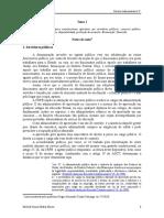 Direito Administrativo v - Tema I