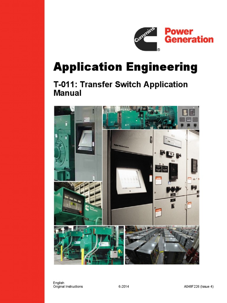 Rxt Transfer Switch Wiring Diagram Application And Selection Manual Electric Generator