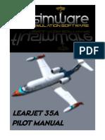 Flysimware's LEAR 35A Manual