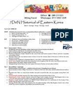 Korea S7KBQ-AK 7D6N Historical Eastern Kingdom