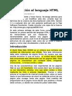 1 - Introducción Al Lenguaje HTML