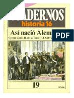 Cuadernos Historia 16 [Serie 1985], Nº 019 Así Nació Alemania