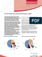 Eurostat Statistics in focus 9/2009 - EU-27 trade with China and Russia in 2007