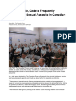 8 Mar 2009 - Cadets Are Targets of Adult Sexual Assault