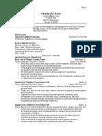 resume for christina dazzopdf