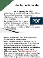 Analisis Cadena de Valor