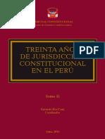 Treinta Años de Jurisdicción Constitucional en El Perú Tomo II