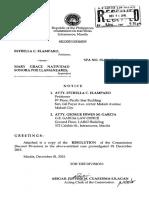 Poe (Elamparo) - Resolution-spa No. 15-001 (Dc)