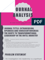 Journal Analysis