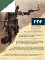 5e Gunslinger Martial Archetype for Fighters