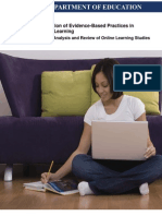 Evaluation of Evidence-Based Practices in Online Learning