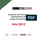 Evaluación Del Proceso de Implementacion-CPP 2013