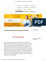 Acentos Hispanos (Sotaques Latinos) _ DIÁLOGO HISPANO