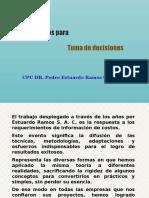 COSTOS Y TOMA DE DECISIONES