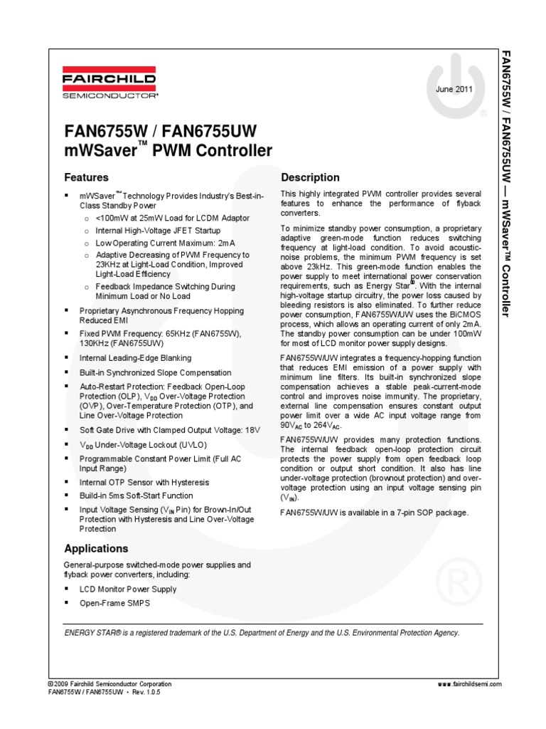Fan 6755 Teot Power Supply Capacitor Protection Of The Mosfet In Flyback