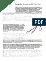 """Penalizaciones De Google Por Consultores SEO """"Low Cost"""""""