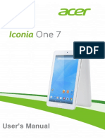 User Manual for Acer Iconia one 7