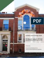 74 Mount Auburn Street Energy Audit Report