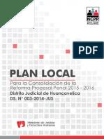 Plan Para La Consolidación de La Reforma Procesal Penal-DJ Huancavelica