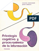 Psicologia Cognitiva y Procesamiento de La Información - Delclaux y Seoane