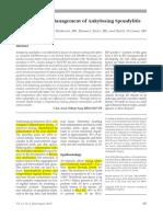Orthopaedic Management of Ankylosing Sponpylitis