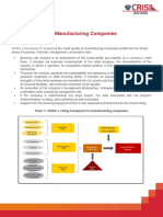 Rating Criteria for Manufacturing Companies