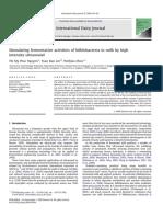 Stimulating Fermentative Activities of Bifidobacteria in Milk by High
