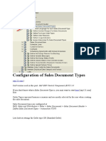 Sales Document Types