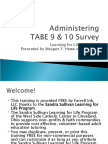 Administering TABE 9-10 Survey