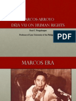 13 Marcos-Arroyo déjà vu on human rights - Dean Raul Pangalangan