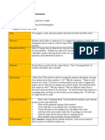 content lesson plan and assessment