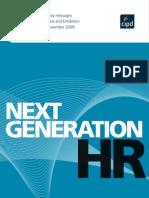 Next Generation HR Key Messages