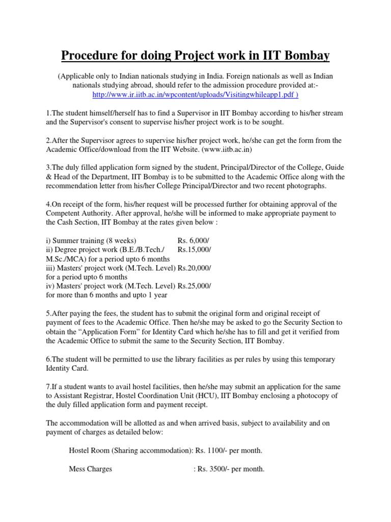 Procedure for Project 201523 Nov | Politics | Government