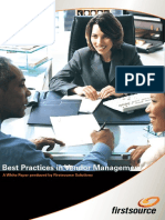 Best Practices Vendor Management