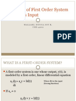 Response of First Order System in Various Input